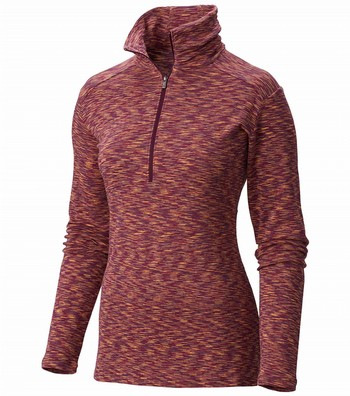 Columbia Outerspaced 1/2 Zip Top - Womens Purple Dahlia / Red