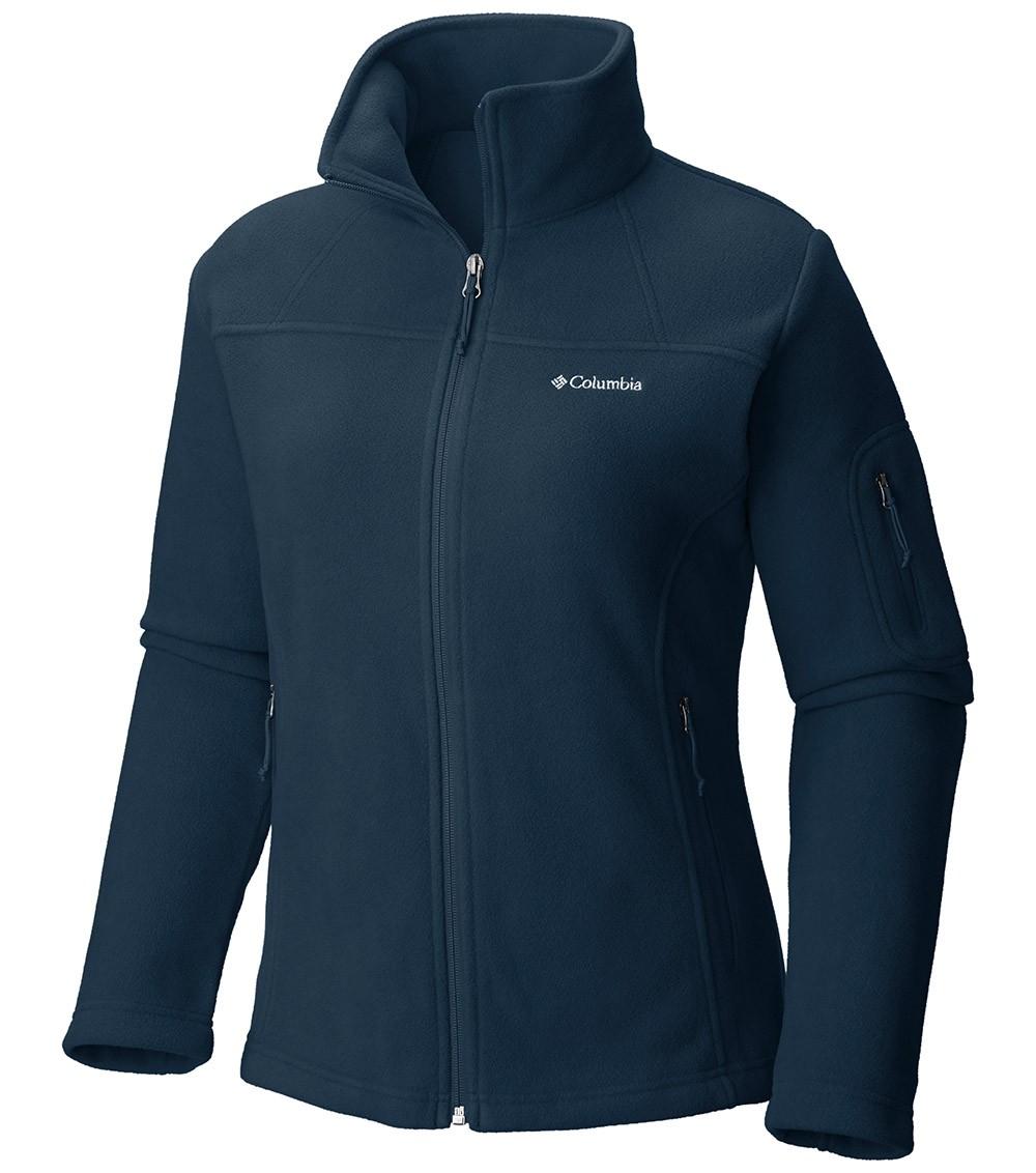 columbia womens fast trek ii full zip fleece jacket columbia navy