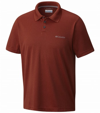 12304403fde8f Columbia New Utilizer Polo Shirt - Mens Rusty Heather