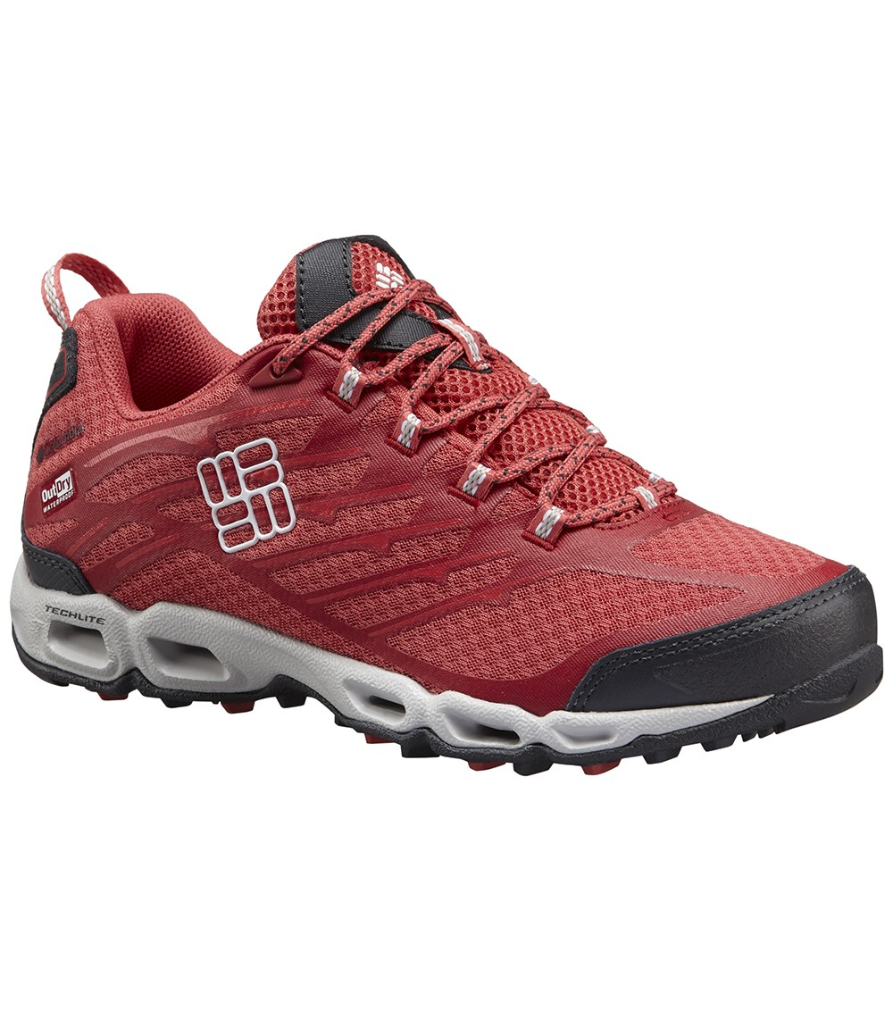56c5eaad3475 Columbia Womens Ventrailia Ii Outdry Hiking Shoes Sunset Red   White