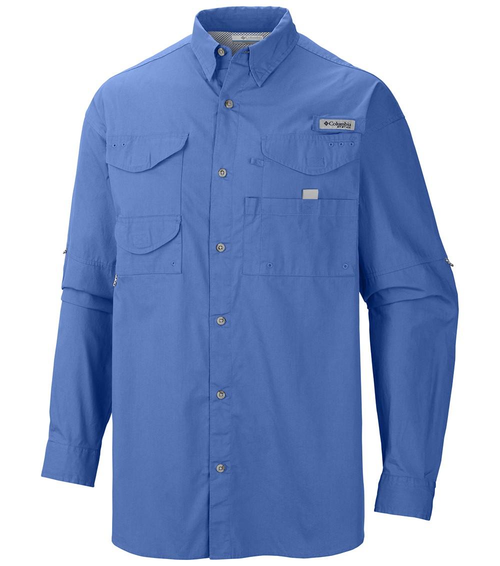 5eba25f2 Columbia Mens Pfg Bonehead Ls Shirt Vivid Blue