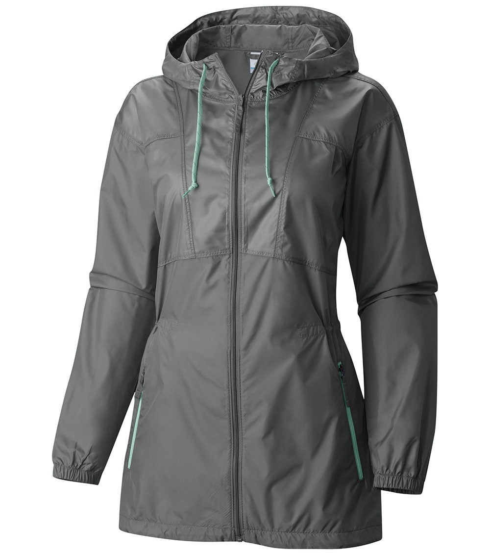 Columbia Womens Flashback Long Windbreaker Sedona Sage