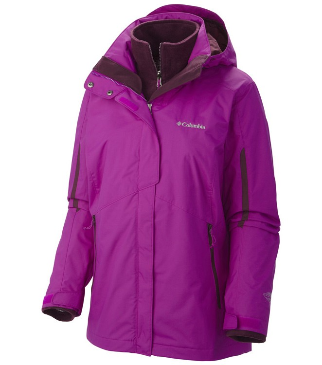 Columbia Womens Bugaboo Interchange 3 In 1 Ski Jacket Bright Plum ... 0570565ae391