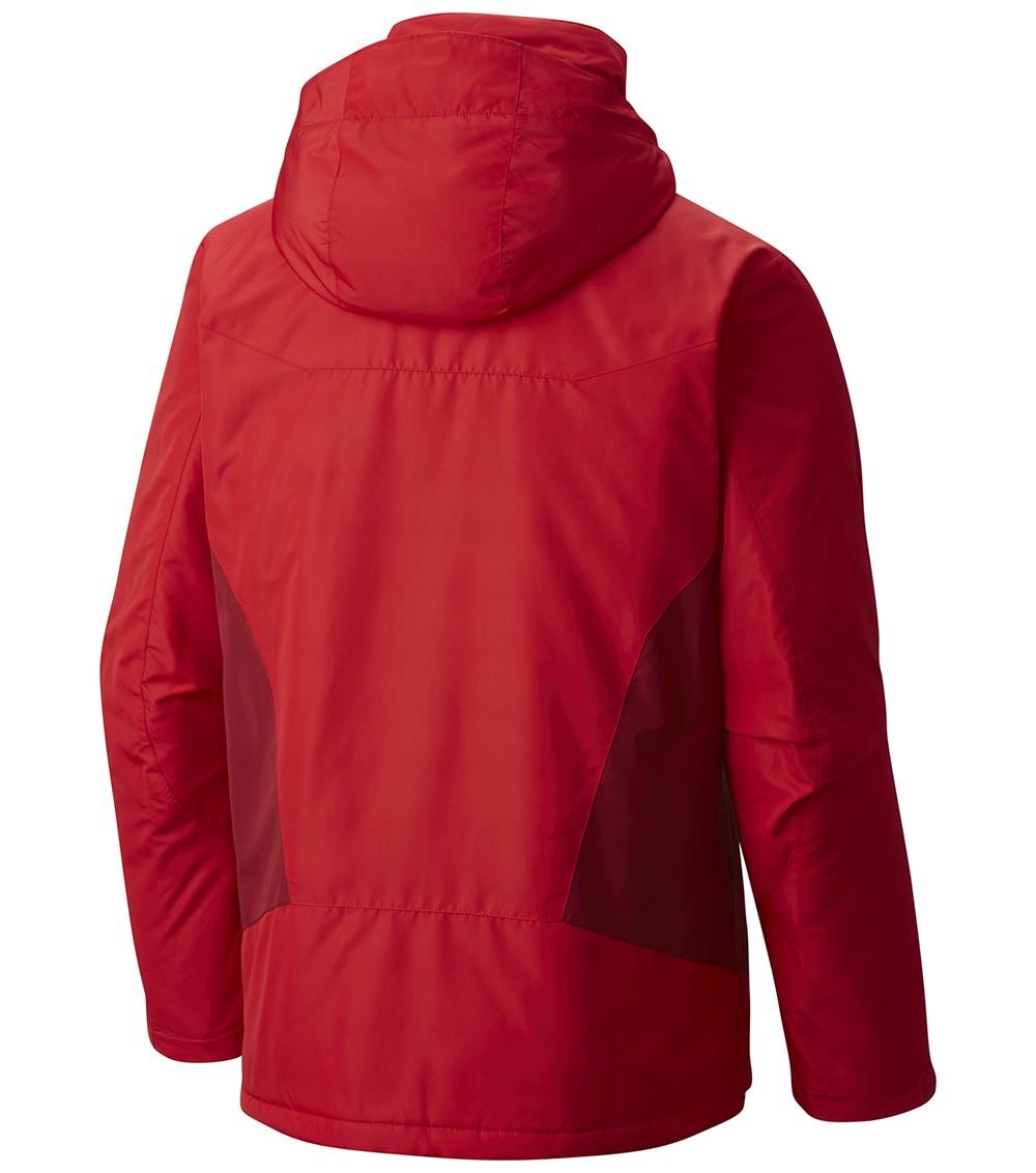Columbia Mens Antimony Iv Ski Jacket Mountain Red
